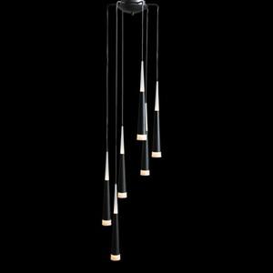 Подвесной светильник Azzardo lp9003-6-black Brina