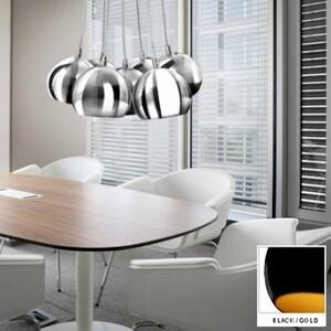 Подвесной светильник Azzardo pl_6084_black_gold Noa