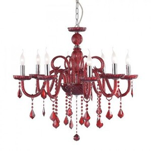 Люстра Ideal Lux GIUDECCA SP8 ROSSO 27425