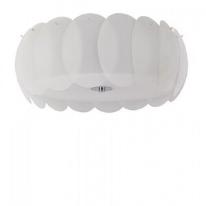 Светильник потолочный Ideal Lux OVALINO PL8 BIANCO 94014